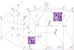 На чертеже решена задача нахождения натуральной величины треугольника методом вращения вокруг проецирующих прямых