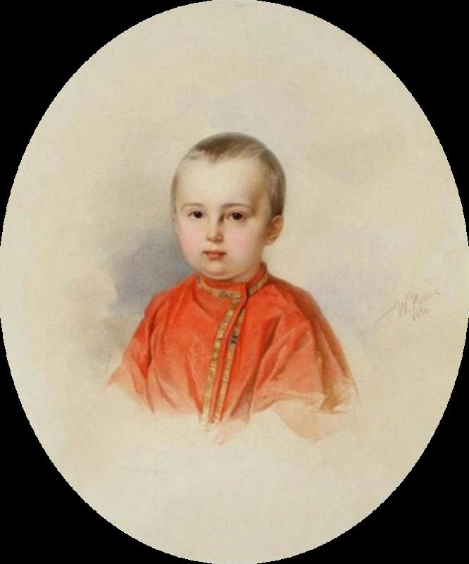 Портрет мальчика в красной рубашке, 1850.png