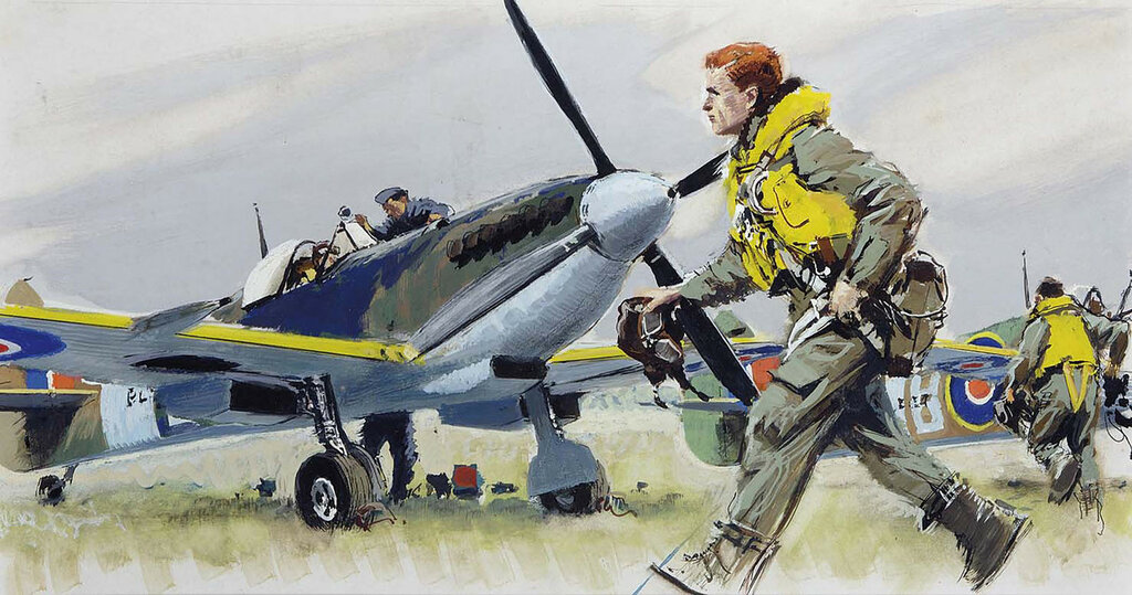 Albert Brenet - SPITFIRE XIV au décollage