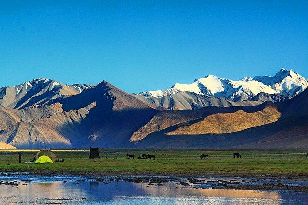 Дальняя граница заповедника Цоморари, Ладакх, Джамму и Кашмир