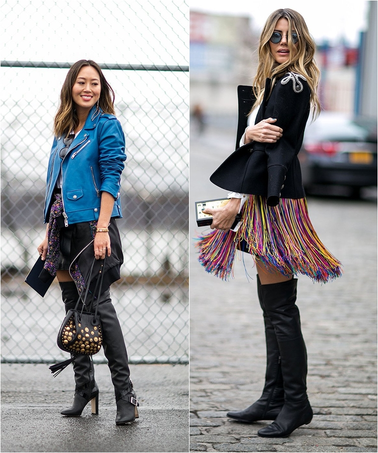 How to Wear High Boots: Streetstyle from New York Fashion Week Fall/Winter 2016-2017 photo 8