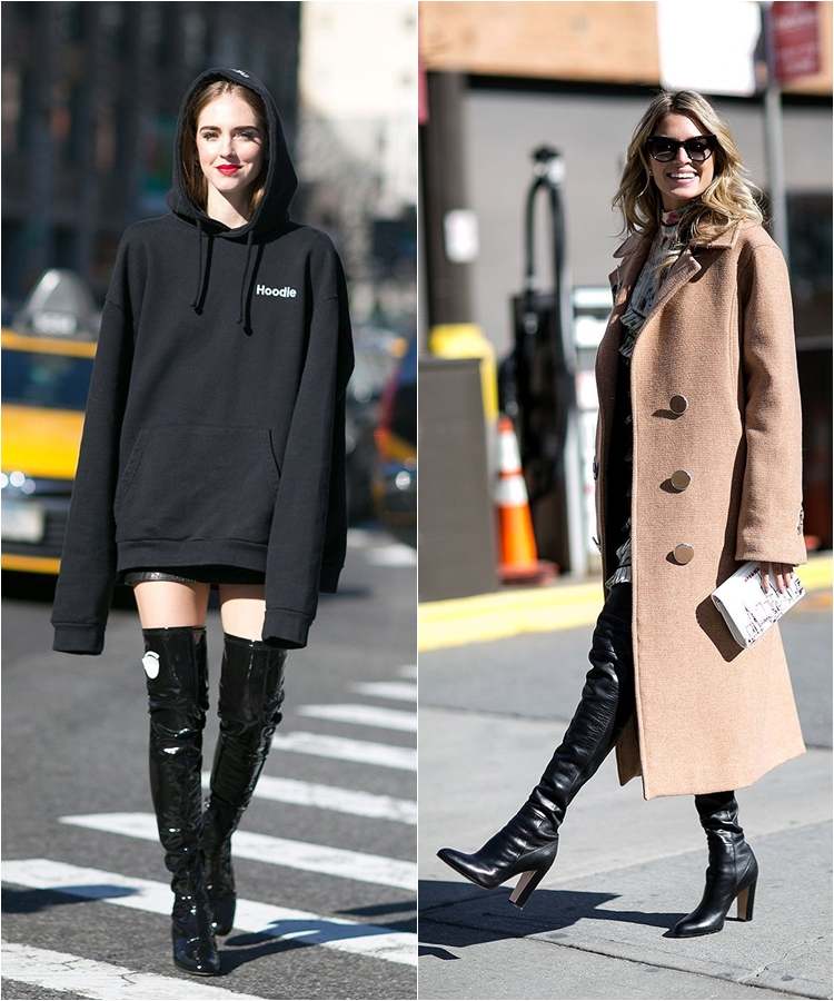 How to Wear High Boots: Streetstyle from New York Fashion Week Fall/Winter 2016-2017 photo 9