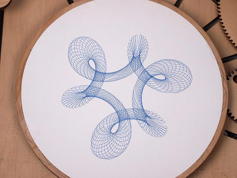 Cycloid Drawing Machine - A designer imagines a beautiful wooden Spirograph