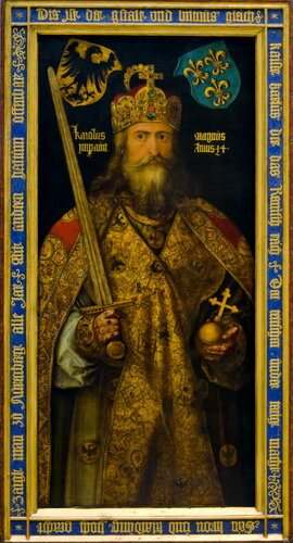 Портрет Карла Великого в короне, с державой и мечом в руках. Альбрехт Дюрер (Немецкий национальный музей. Нюрнберг)