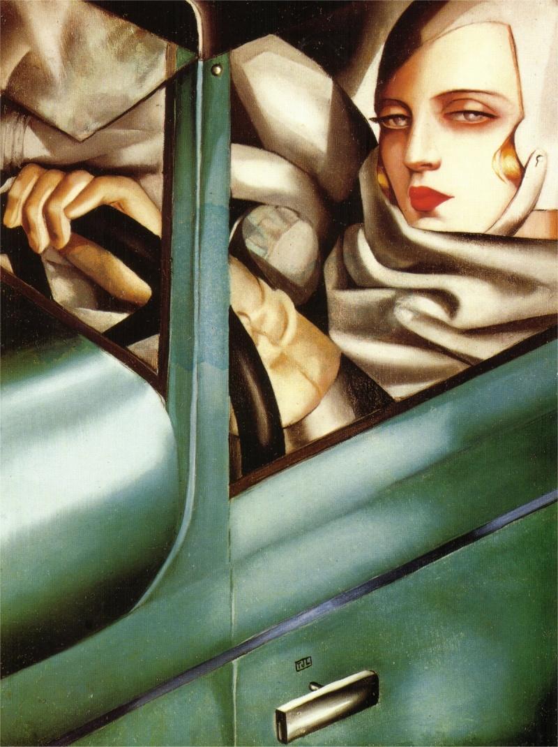 "Тамара де Лемпицка Автопортрет в зеленом ""бугатти"" 1925"