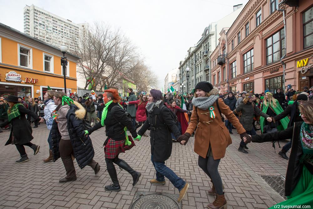 Москва. День святого Патрика на Арбате