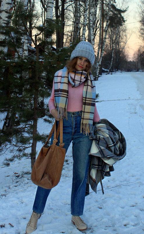 Пальто - Oasis, шарф - Ostin, ботинки - Zara