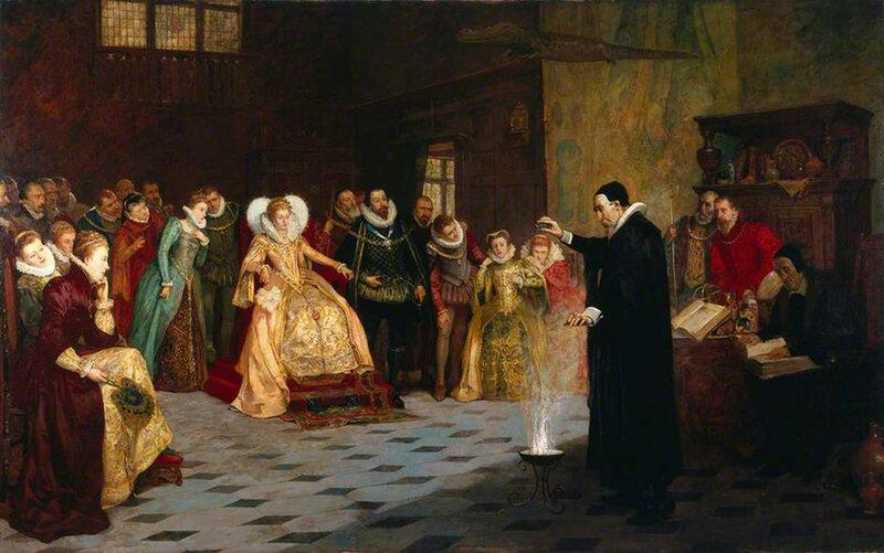 Генри Глиндони Джон Ди ставит опыты перед Елизаветой I