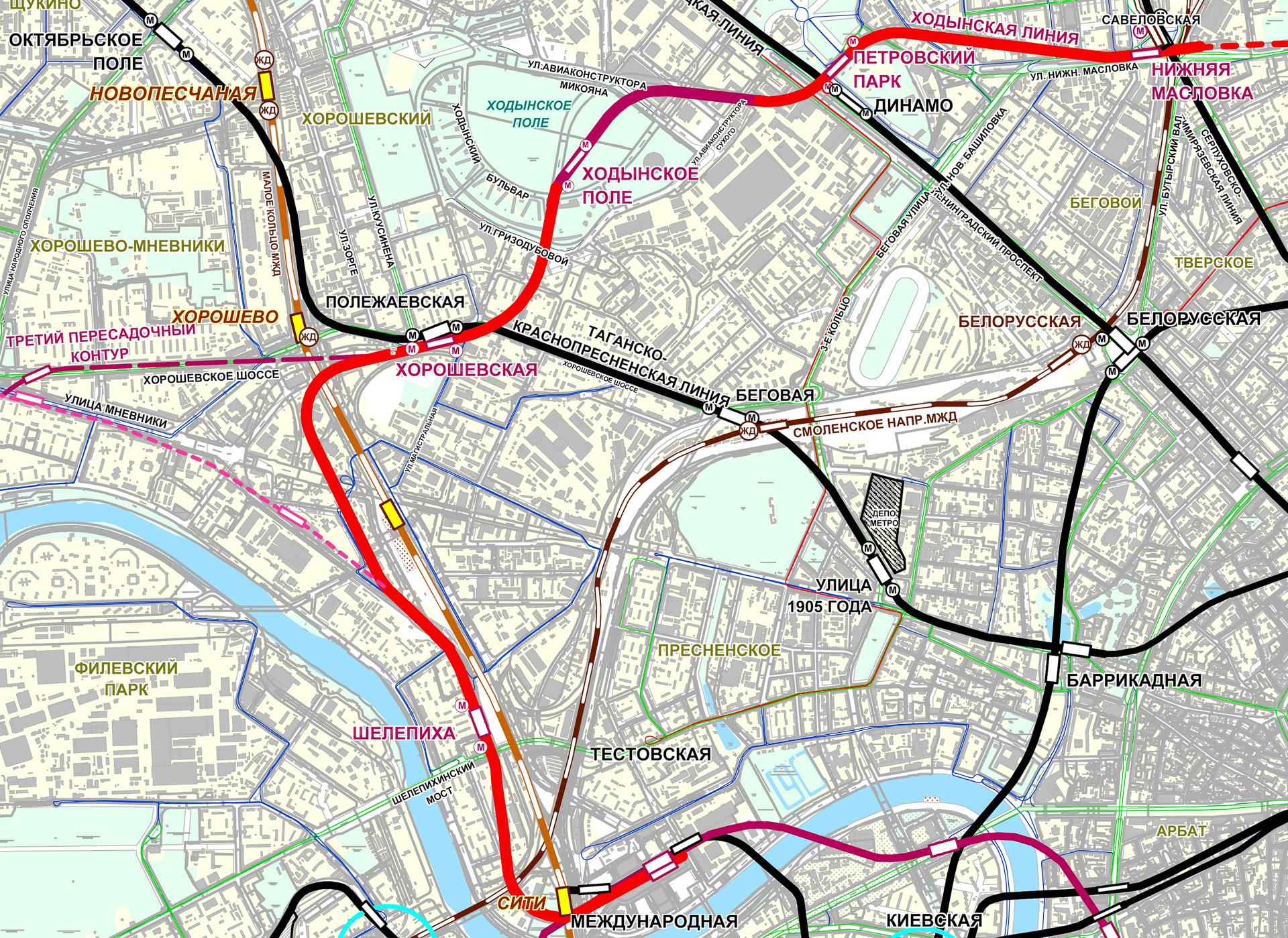 план схема нижегородского метро 2033