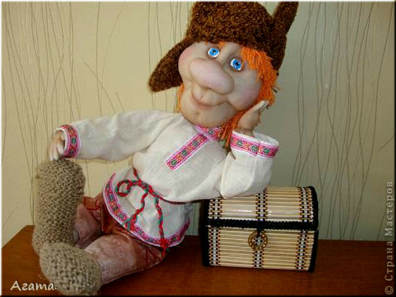 Как руками сделать куклу домовой