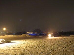Набережная Александра Невского вечером - Новый год в Великом Новгороде