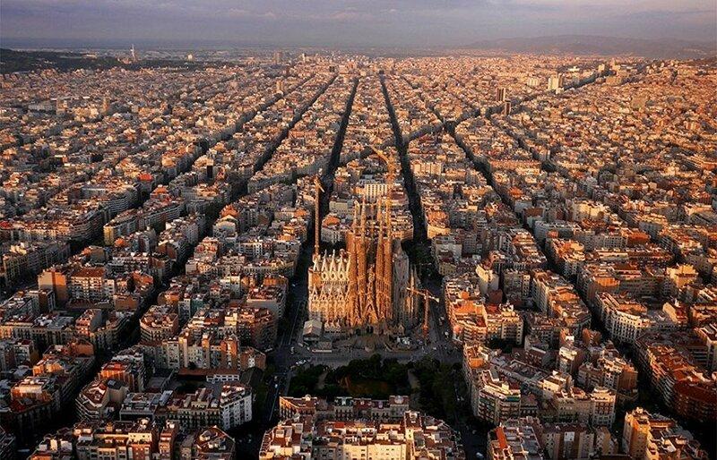 Восхитительная Барселона (фото с помощью беспилотника)