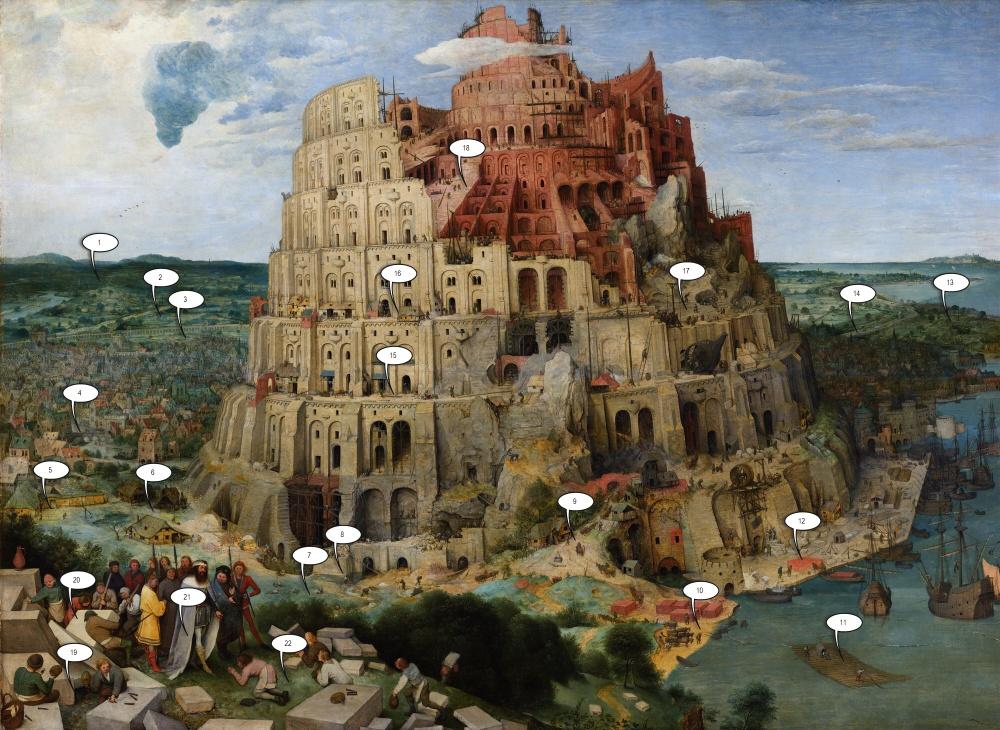 22детали, которых мынезамечали наВавилонской башне Брейгеля (23 фото)