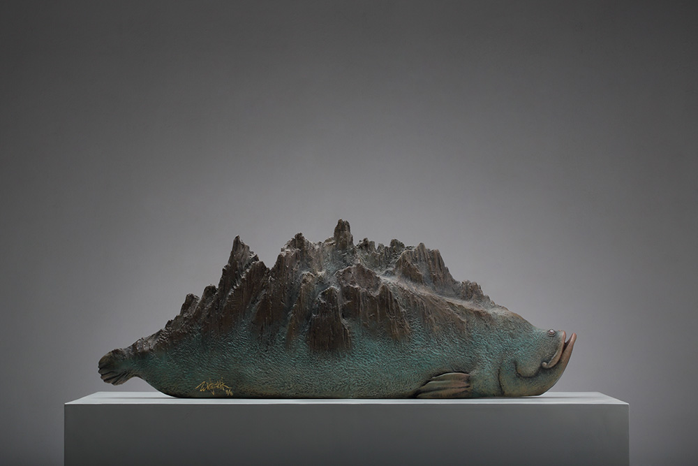 DREAMS-Mountain & Sea No.1, 2013. Copper and paint.