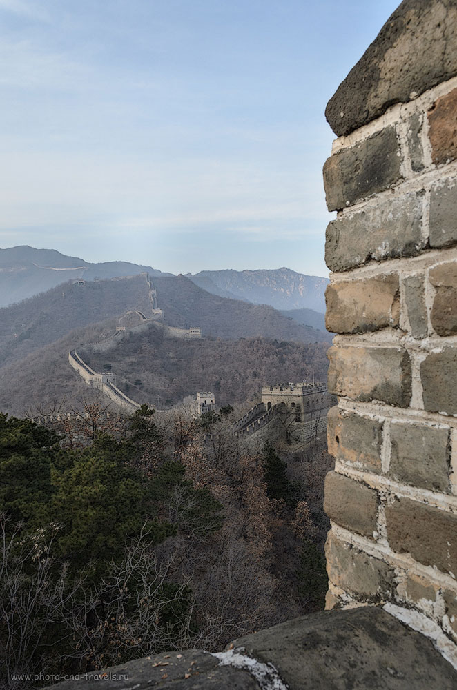Фото 6. Отзывы туристов о самостоятельной поездке из Пекина на участок Мутяньюй. Синее небо, высокие горы... Что может быть красивее?