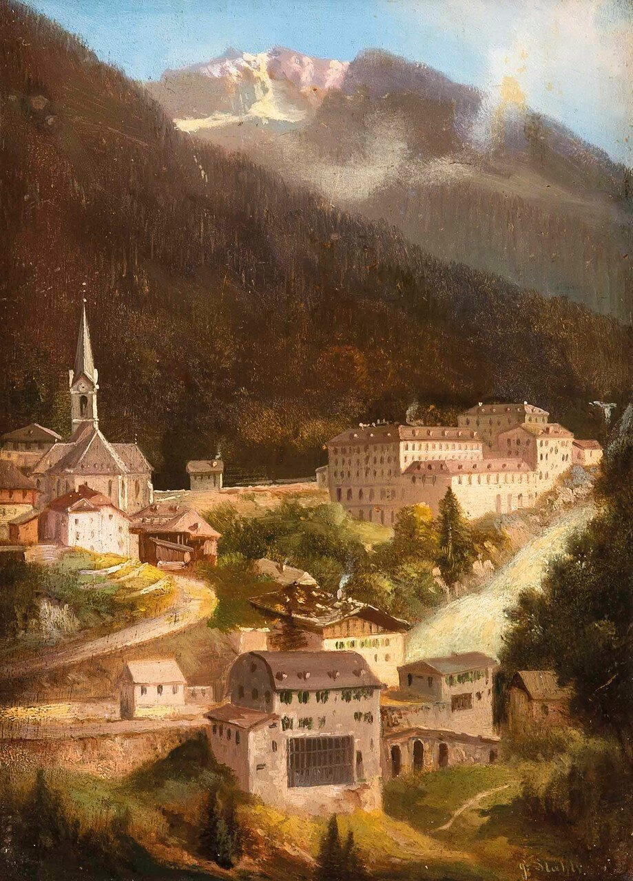 "Hubert Sattler (Wien 1817-1904 Wien) ""Bad Gastein"""