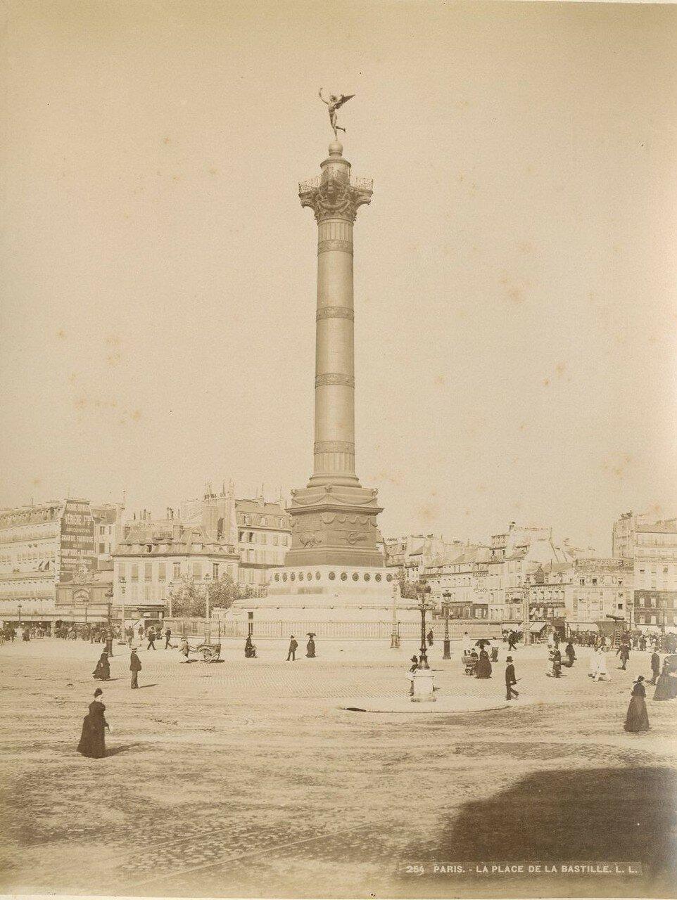 1880-е. Июльская колонна на площади Бастилии