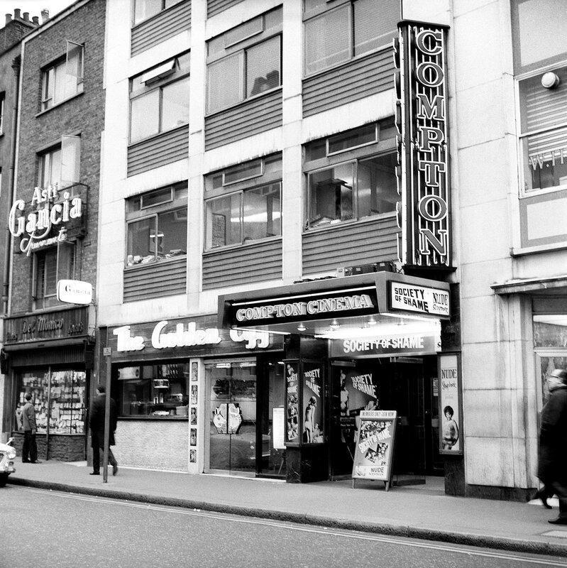 London Scenes - Soho - Old Compton Street - 1966