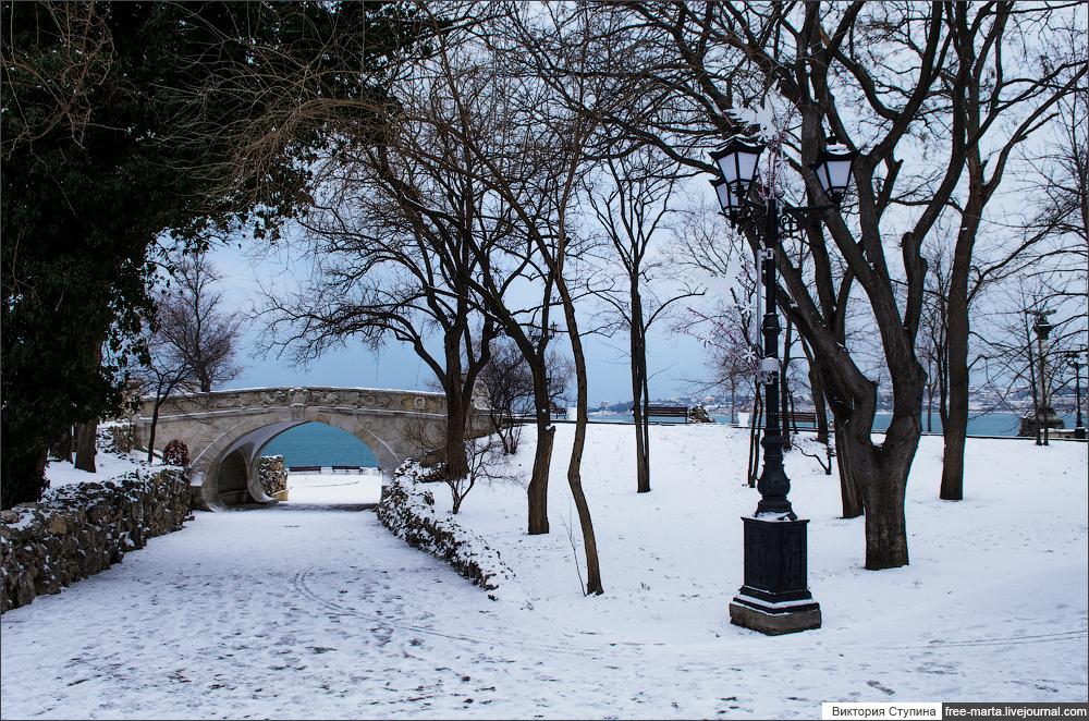 Севастополь в январе