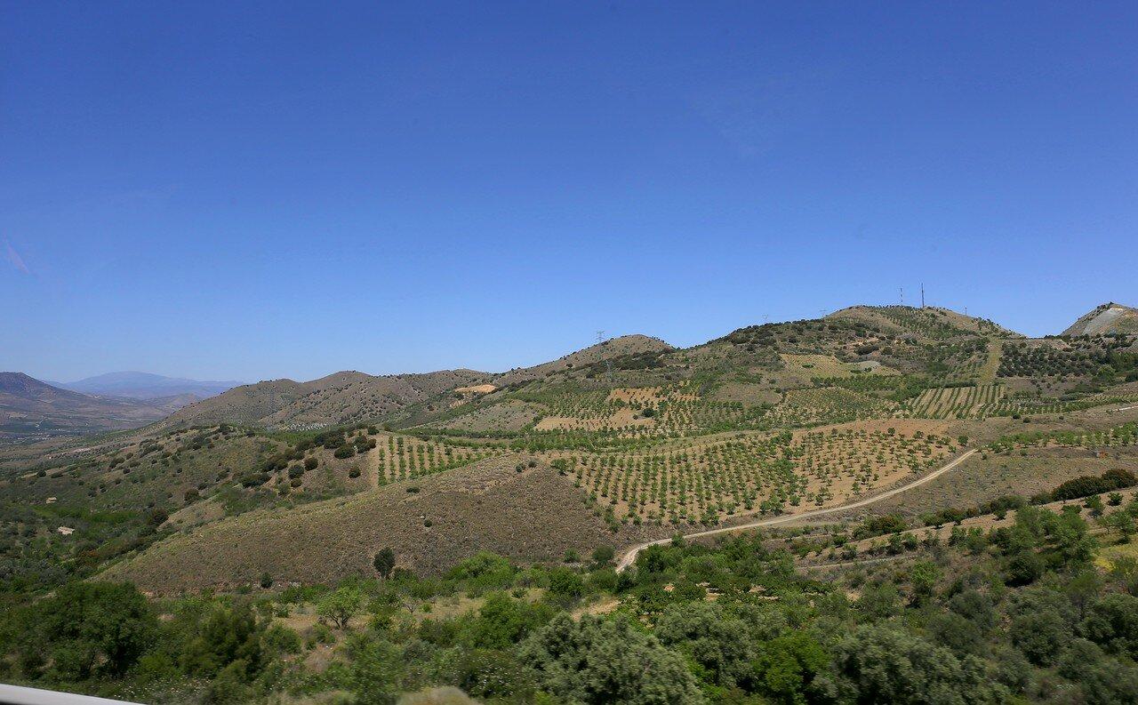 Ландшафты западного Арагона. Долина реки Хелон