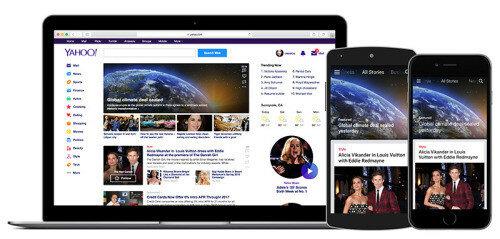Yahoo запустила новый дизайн главной страницы и приложения