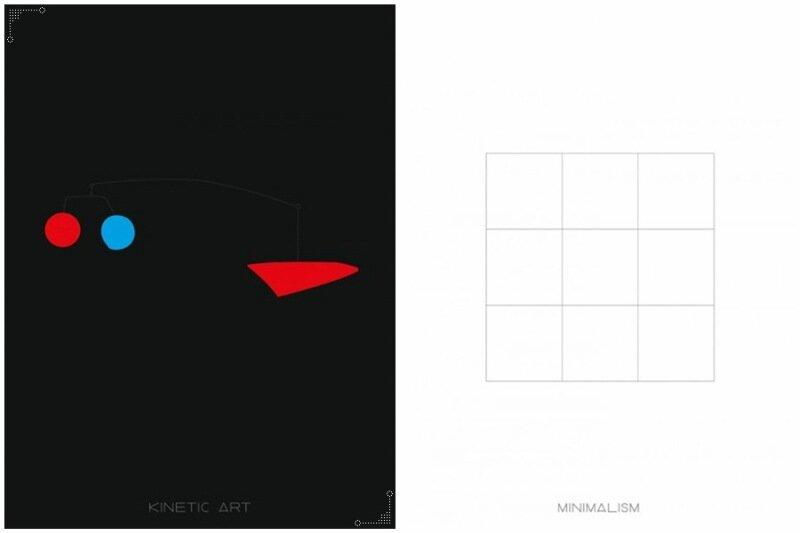 Понятный путеводитель по современному искусству в постерах картинках