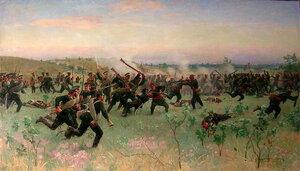 Штыковой бой полков русской гвардии с турецкой пехотой на Систовских высотах 14 июня 1877 года