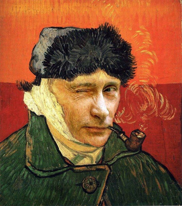 Владимир Путин в виде Винсента Ван Гога