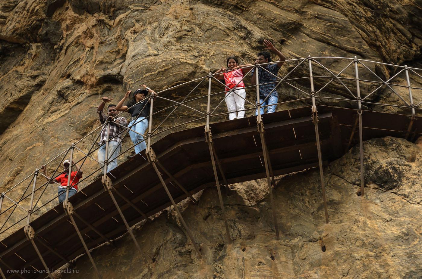 Фотография 12. На Шри-Ланке интерес к европейским самостоятельным путешественникам такой острый, что многие посетители не хотят смотреть красоты Сигирии, а хотят наблюдать за белыми человечками. Хотя, это - граждане Индии, они белых туристов видят редко.