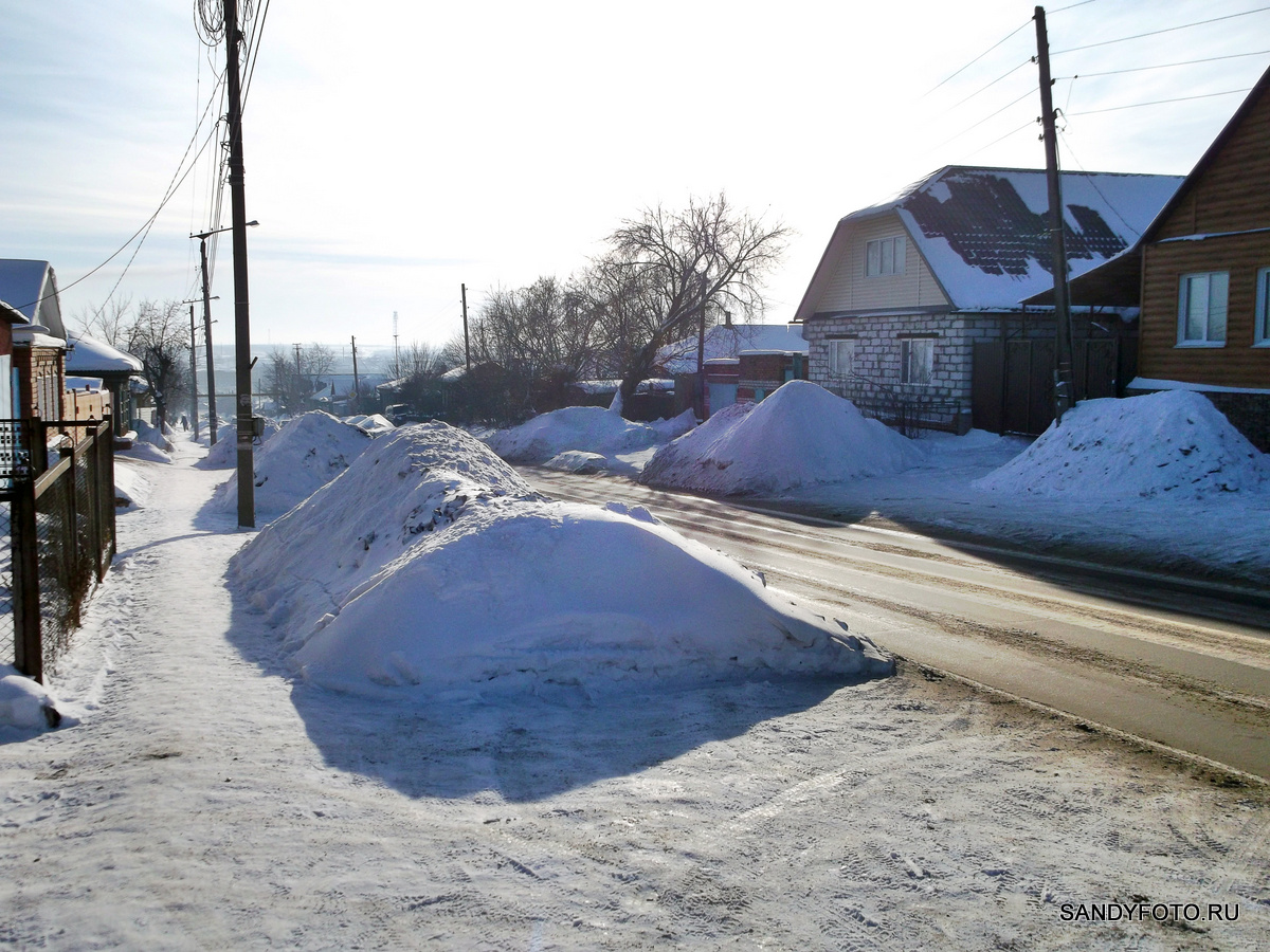 Снег на улице Розы Люксембург