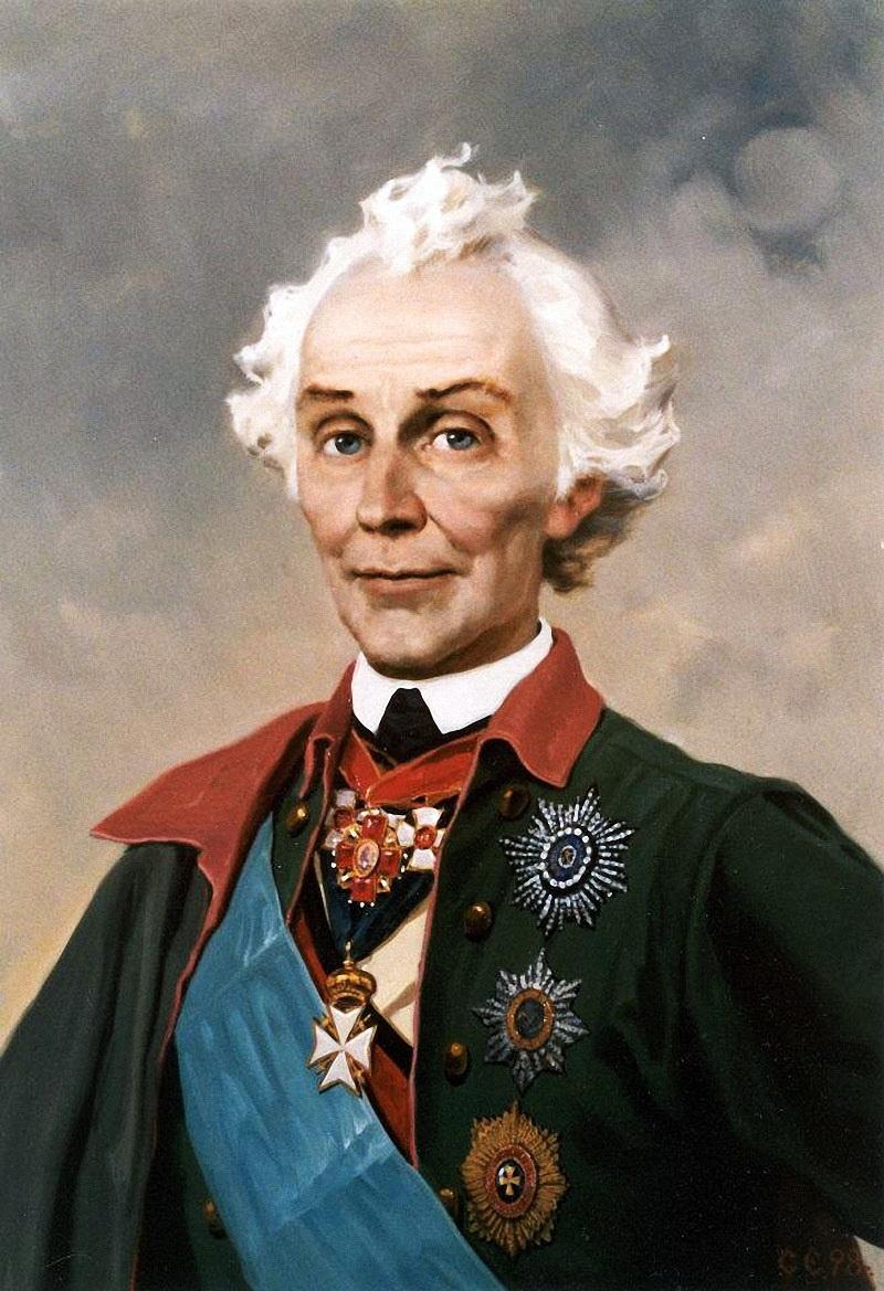 Портрет А.В.Суворова 1730-1800гг.