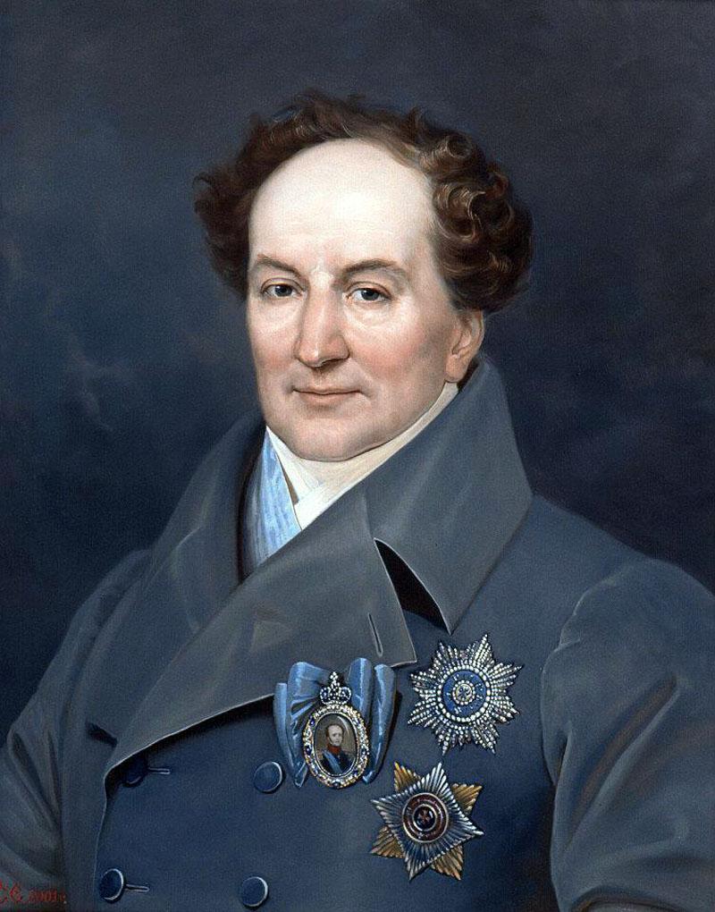 Портрет гос. деятеля XIXв. кн.Голицына Александра Николаевича 1773-1844гг.