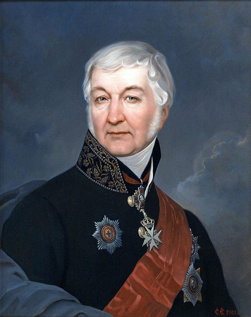 Портрет гос. деятеля XIXв. Ланского Василия Сергеевича 1762-1831гг.