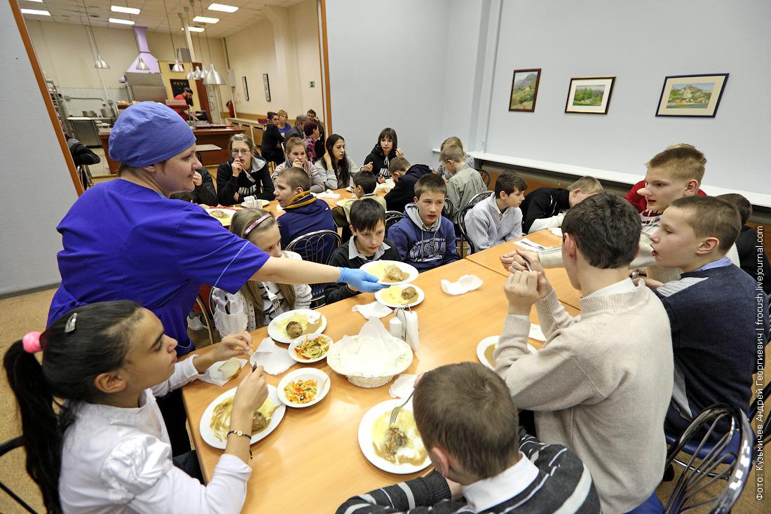 воспитанники Кимрской школы-интерната для детей сирот на мероприятии в Москве