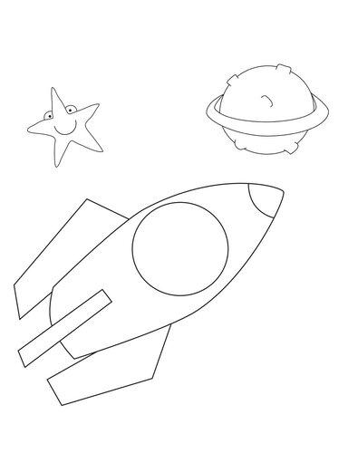 Детские раскраски Космос