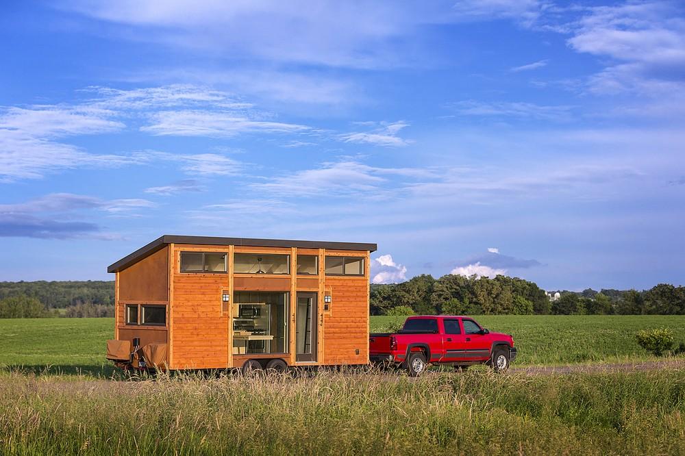 Уютные мобильные домики, площадью всего 15 кв. метров