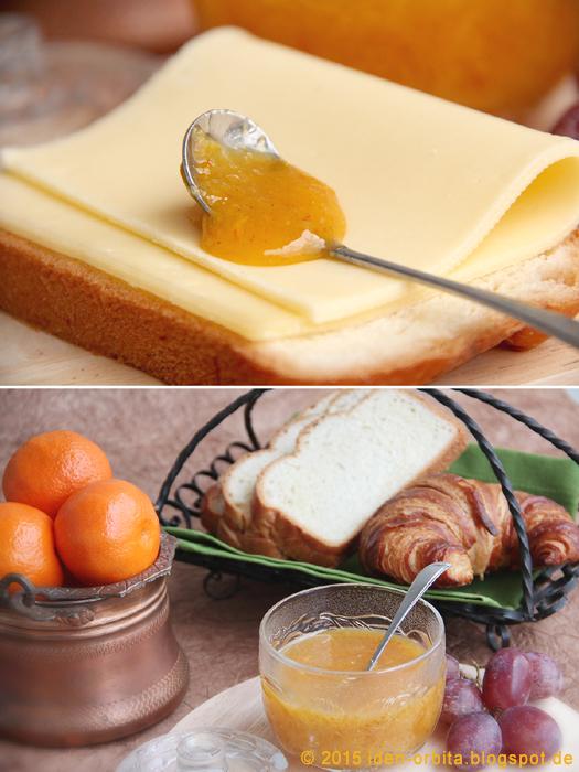 Апельсиновый джем с хурмой