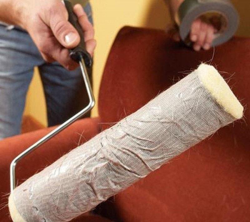 5. Если шерсть животных глубоко застряла в ковре, возьми кусочек дерева и оберни его наждачной