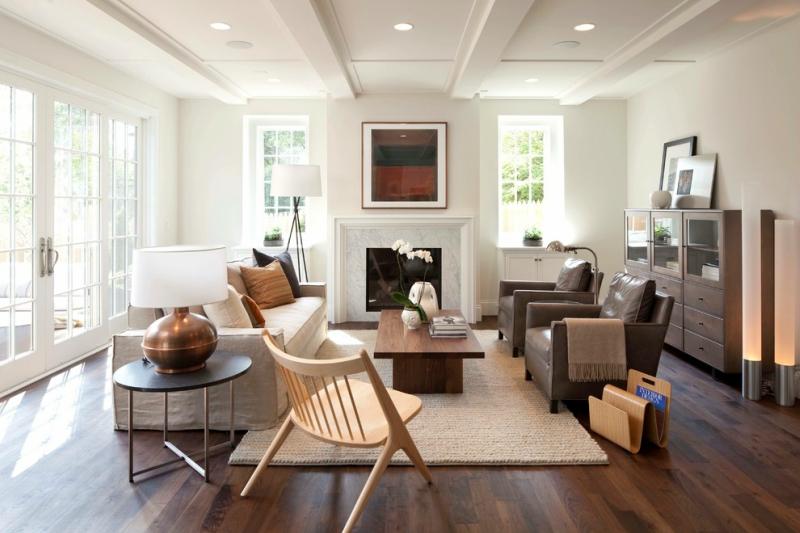 Дизайн интерьера гостиной в светлых оттенках фото 23