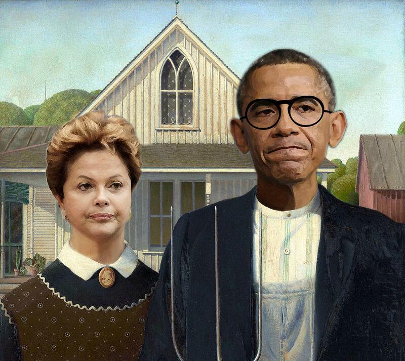 """""""Американская готика"""" - Дилма Русеф и Барак Обама"""