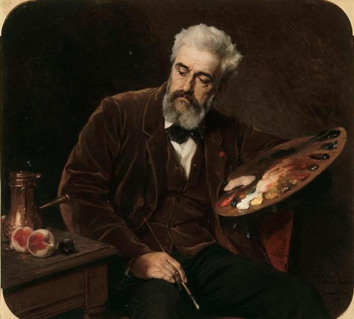 Portrait of Philippe Rousseau, 1876