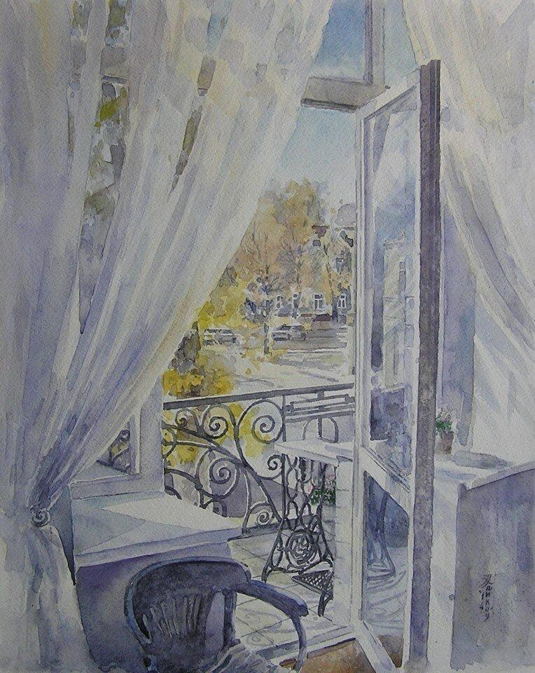 Окно в осень (49Х39, акварель, 2014).jpg