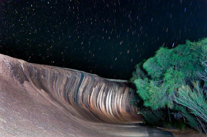 Скала Волна (Wave Rock) в городе Перт