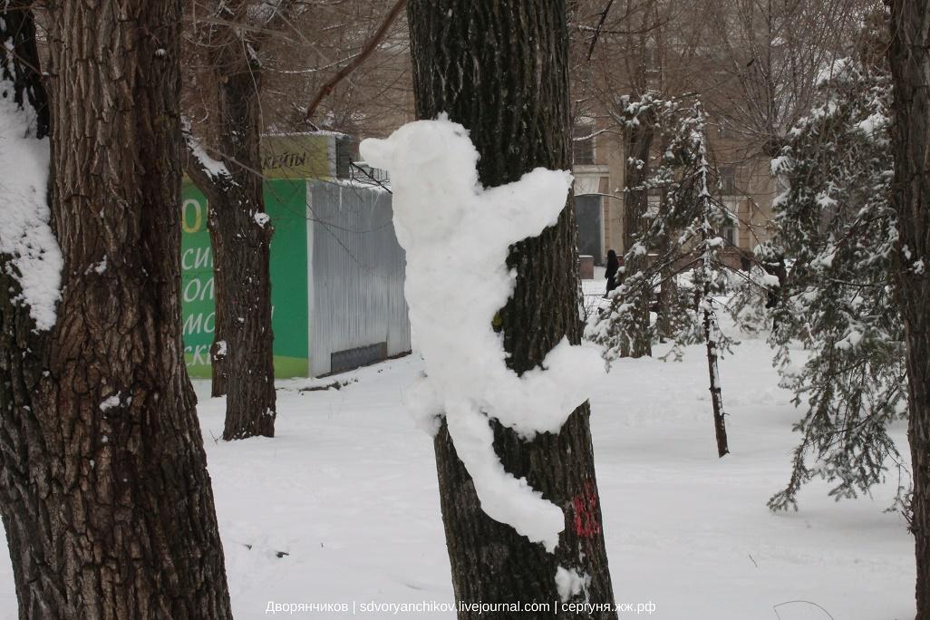 Волжский - Парк Вгс - снеговики атакуют - 22 февраля 2016