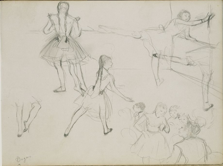Ballet Dancers Rehearsing
