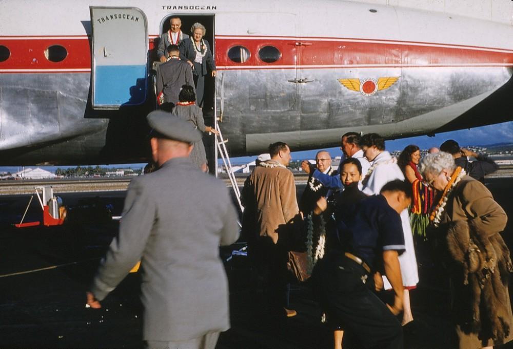 Пилоты авиакомпании Трансоушен, начало 60-х.
