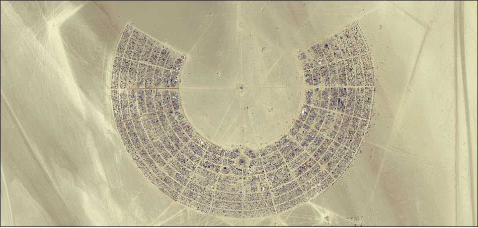 15. Пустыня Блэк Рок в Неваде.