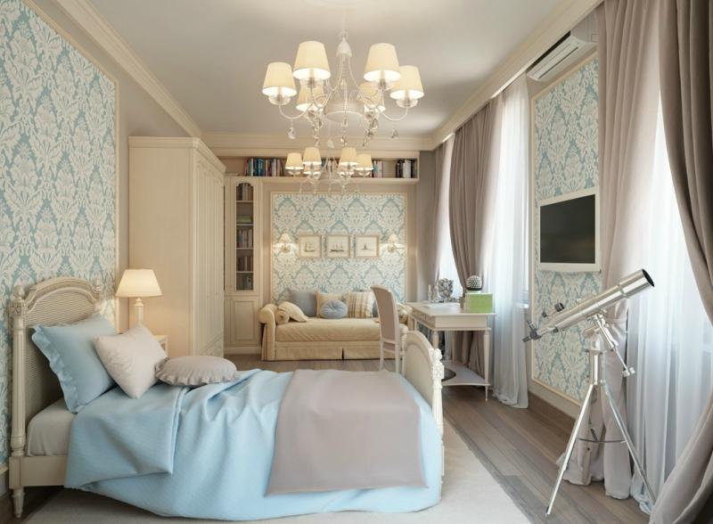 Дизайн интерьера спальни в светлых оттенках фото 13