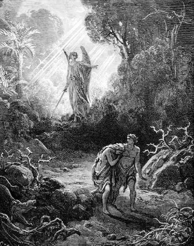 Г. Доре. Изгнание Адама и Евы из рая