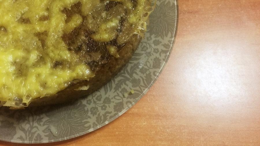 Печёночный пирог с рисом в мультиварке